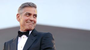 george clooney tux profile reuters