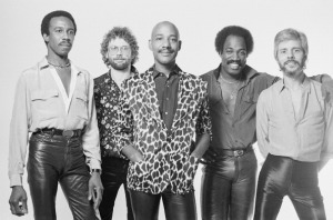 LONDON - 1st SEPTEMBER: English pop group Hot Chocolate posed in London in September 1980. Left to right: Larry Ferguson, Tony Connor, Errol Brown, Patrick Olive and Harvey Hinsley. (Photo by Fin Costello/Redferns)