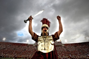 Sep 22, 2007: Los Angeles, California, USA: Southern California Trojans mascot Tommy Trojan performs before the start of the game against the Washington State Cougars at the Los Angeles Memorial Coliseum. Mandatory Credit: Photo By Jeff Lewis-US PRESSWIRE Copyright (c) 2007 Jeff Lewis
