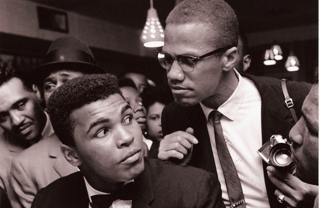 Malcolm X kidding around with Muhammad Ali, New York, 1963